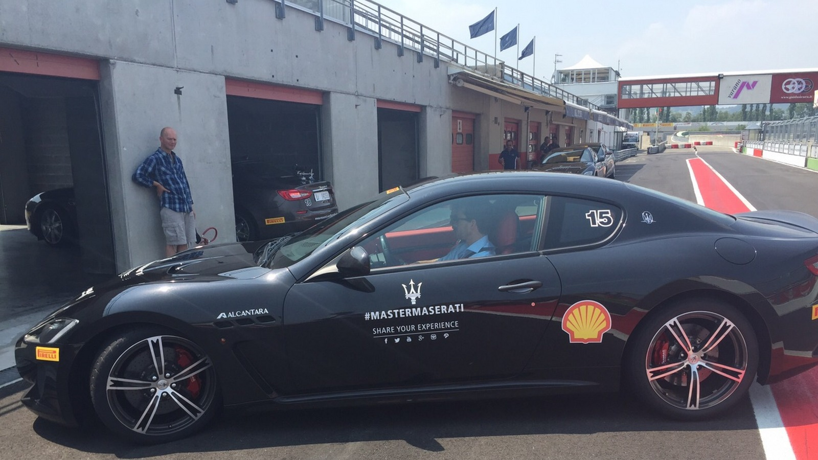 Maserati on the racetrack