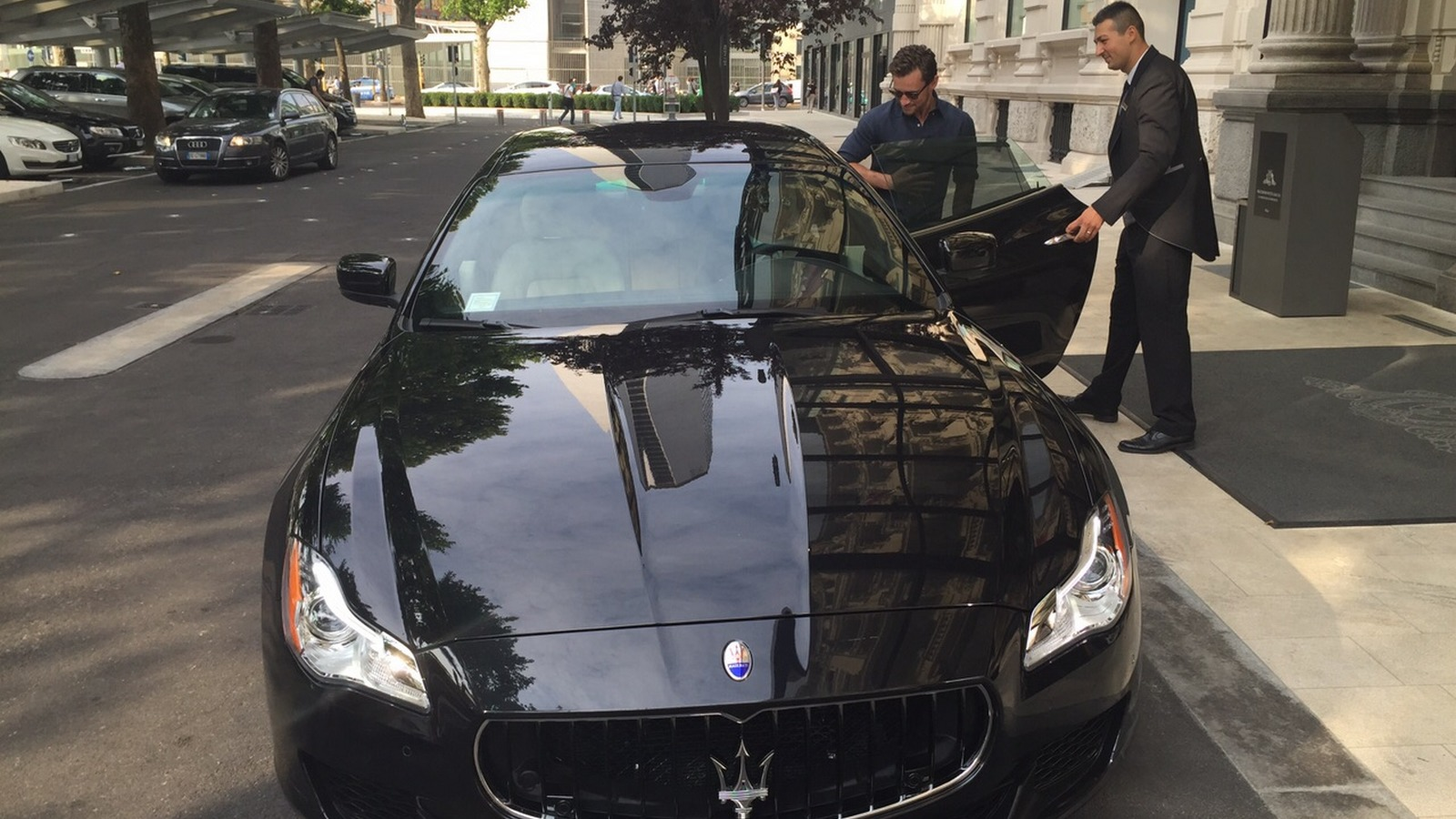 Maserati in front of Excelsior Hotel Gallia