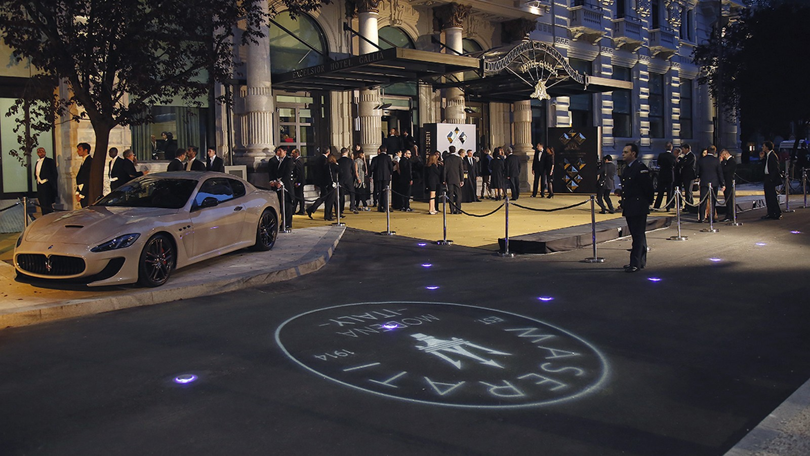 Maserati at the hotel opening event